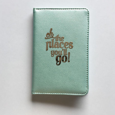 Passport Cover - Powder Blue : Oh! The places you'll go-FASHION-PropShop24.com