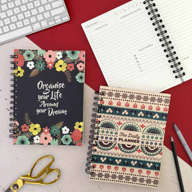 Daily Planner - Set of 2 - Floral & Tribal-STATIONERY-PropShop24.com