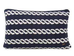 Nautico Cotton Knitted Rectangle Cushion Cover-HOME-PropShop24.com