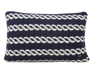 Nautico Cotton Knitted Rectangle Cushion Cover-HOME ACCESSORIES-PropShop24.com