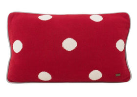 Polka Dots Cotton Knitted Rectangle Cushion Cover-HOME-PropShop24.com