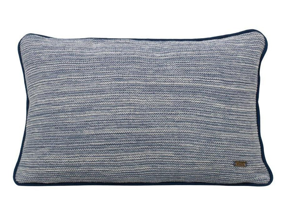 Romy Marine Cotton Knitted Rectangle Cushion Cover-HOME-PropShop24.com