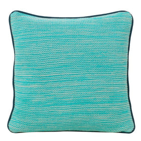 Romy Sea Green Cotton Knitted Square Cushion Cover-HOME-PropShop24.com