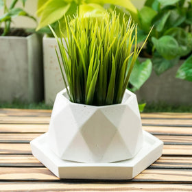 Diamante Planter - White-HOME-PropShop24.com