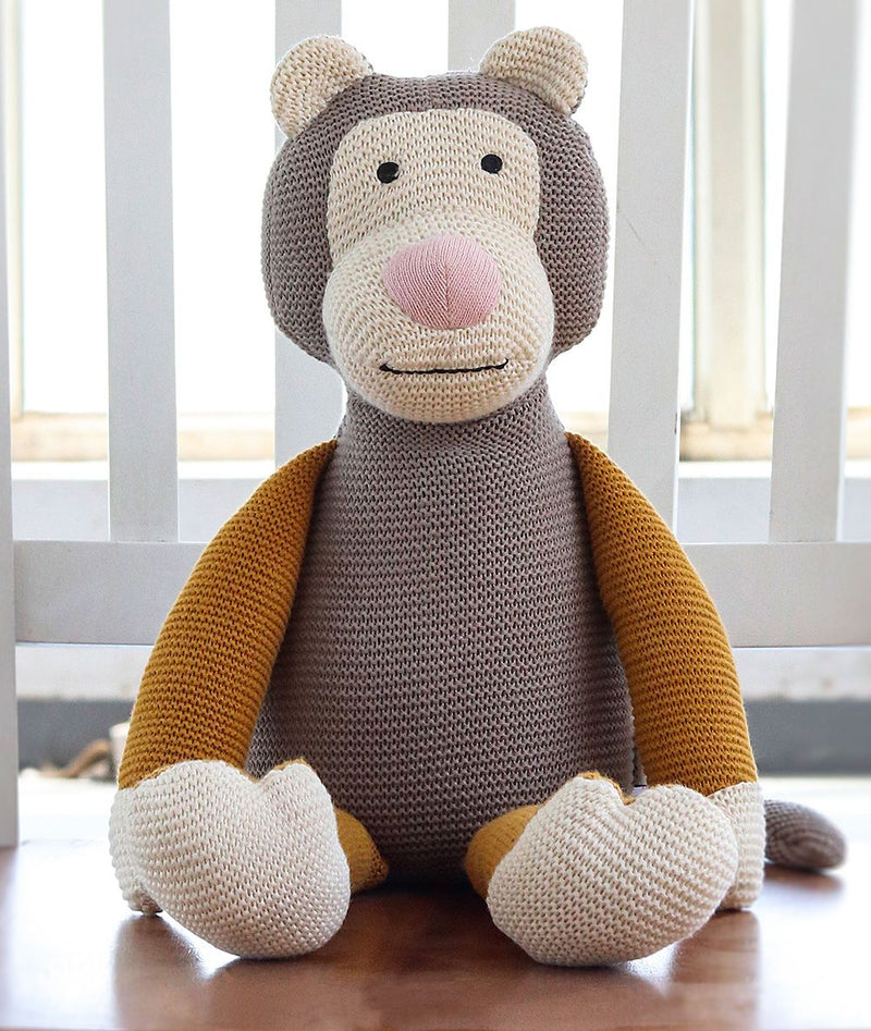 Plushie - Monkey - Cotton Knitted-HOME ACCESSORIES-PropShop24.com