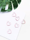 Paper Clips- Lovely Pink Heart Paper Clips - Set Of 8-PENS + PENCILS + PAPER CLIPS-PropShop24.com