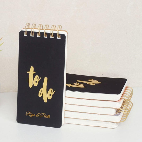 Personalised To Do Notepad - Black - C.O.D Not Available-STATIONERY-PropShop24.com