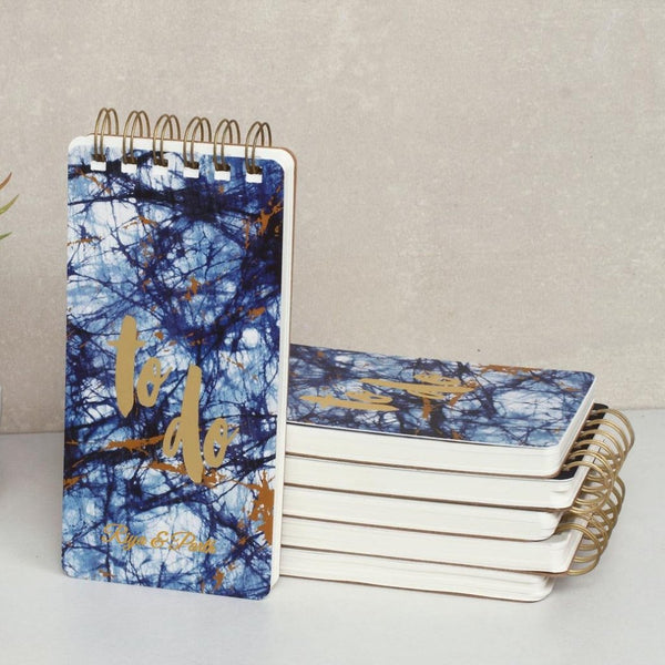 Personalised To Do Notepad - Indigo Shibori - C.O.D Not Available-STATIONERY-PropShop24.com