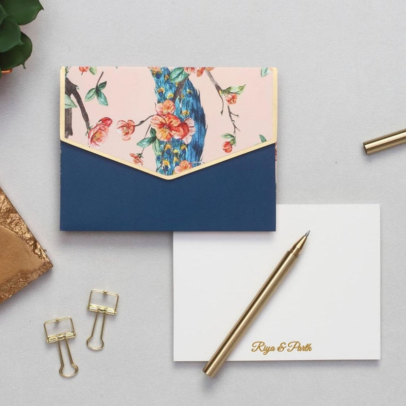 Personalized Notecard Set - Peach Moroccan - C.O.D Not Available-GIFTING ACCESSORIES-PropShop24.com