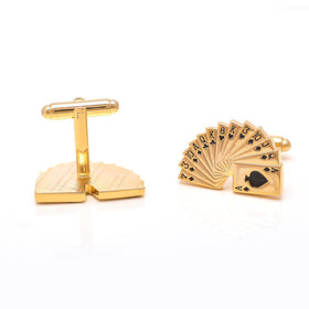 CUFFLINK - PLAYING CARDS GOLD-MENS-PropShop24.com