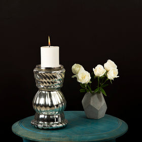 Turned Glass Candle Stand-HOME-PropShop24.com