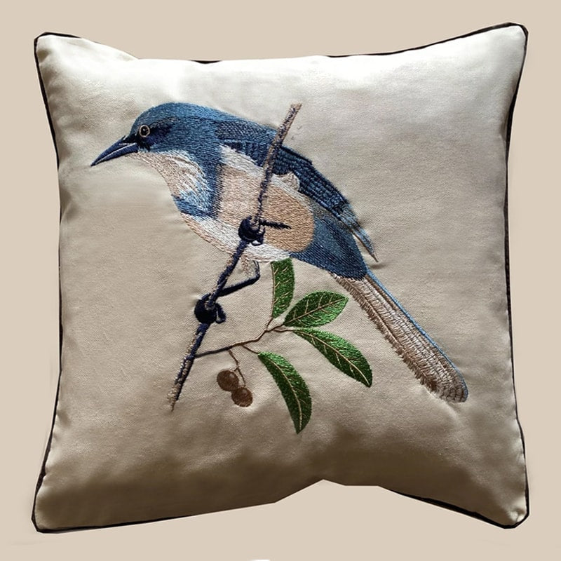Cushion Cover - Bird Blue-HOME ACCESSORIES-PropShop24.com