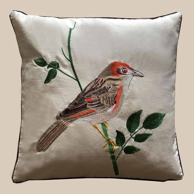 Cushion Cover - Bird Orange-HOME ACCESSORIES-PropShop24.com