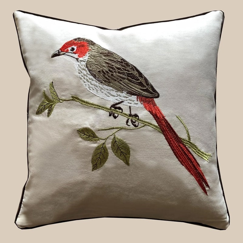 Cushion Cover - Bird Red-HOME ACCESSORIES-PropShop24.com