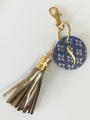 Personalized - Monogram Grey Tassel Keychain Bag Charm - C.O.D Not Available-WOMEN-PropShop24.com