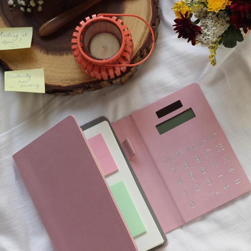 Solar Calculator Diary - Pink-NOTEBOOKS + JOURNALS-PropShop24.com