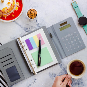 Solar Calculator Diary - Grey-NOTEBOOKS + JOURNALS-PropShop24.com