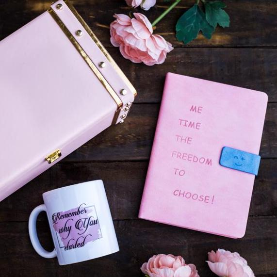 Gift Set - Me Time Notebook With Mug-NOTEBOOKS + PLANNERS-PropShop24.com