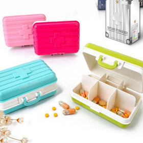 Suitcase Pill Box - Assorted Colors-TRAVEL ESSENTIALS-PropShop24.com