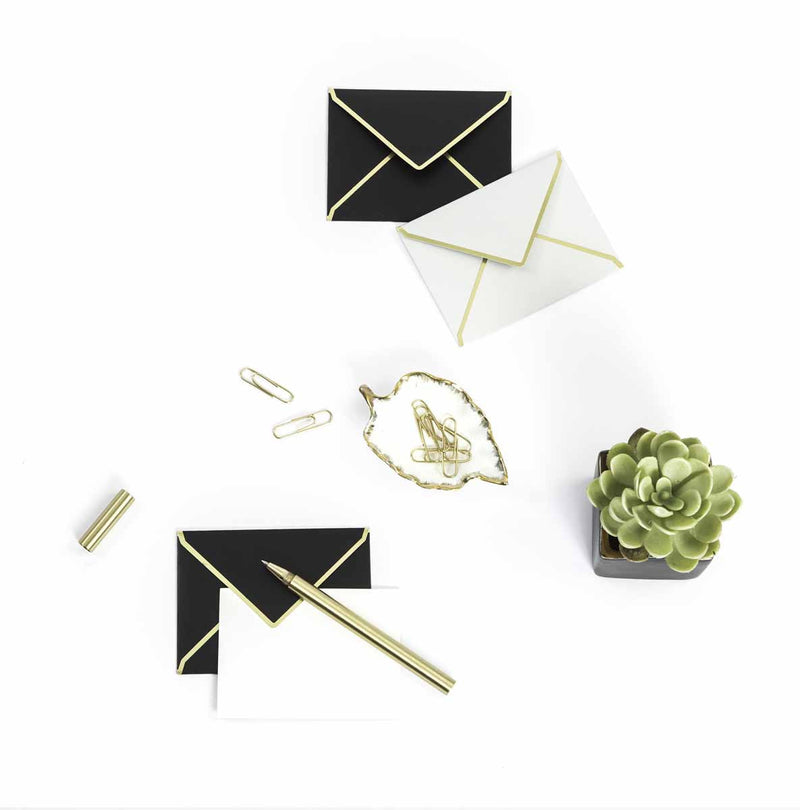 Personalized Mini Notecards With Envelopes - Black And Grey - C.O.D Not Available-GIFTING ACCESSORIES-PropShop24.com