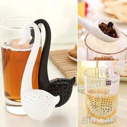 Swan Tea Infuser - Black & White - SET OF 2-HOME-PropShop24.com