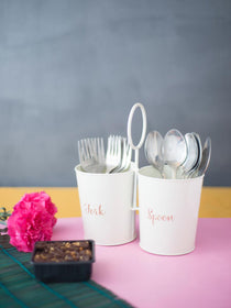 Fork & Spoon Holder - Cream-HOME-PropShop24.com