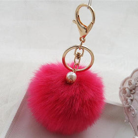 Key Chain - Pom Poms - Hot Pink-PERSONAL-PropShop24.com