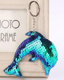 Sequin Design Dolphin Keychain-FASHION-PropShop24.com