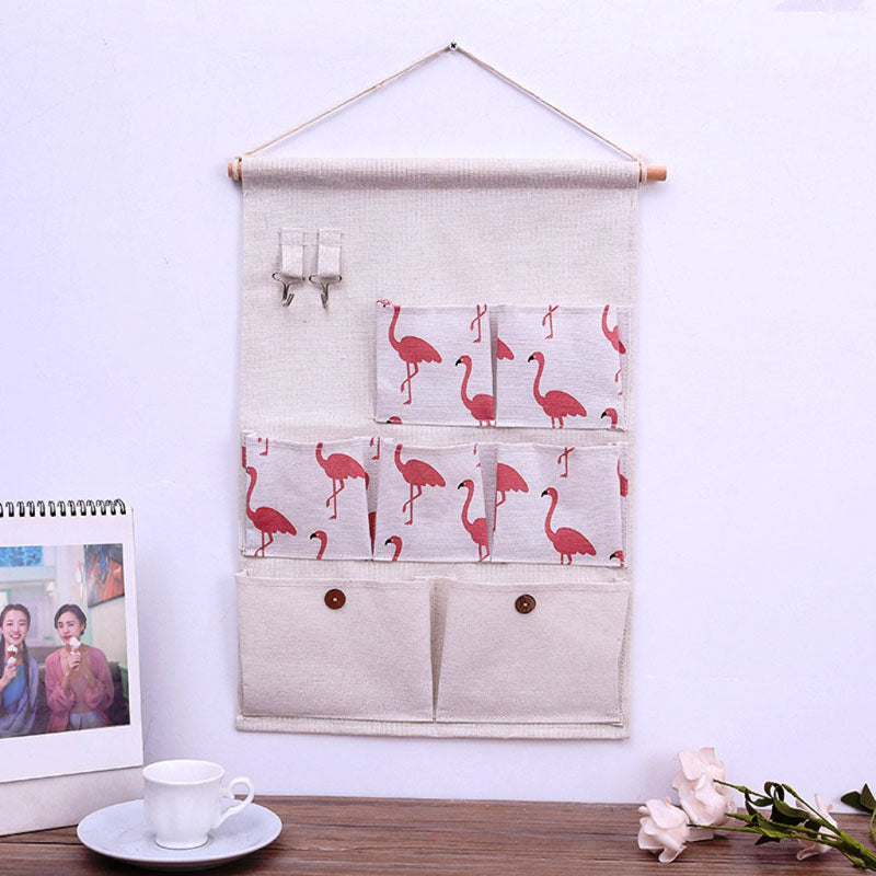 Wall Hanging - Multipurpose Organizer With 7 Pockets And 2 Hooks-ORGANIZERS + STORAGE-PropShop24.com