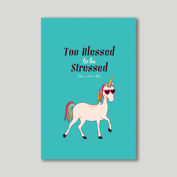 Art Print - Too blessed to be stressed - propshop-24 - 1