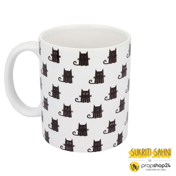 Coffee Mug - Black Cats with White Background-Home-PropShop24.com