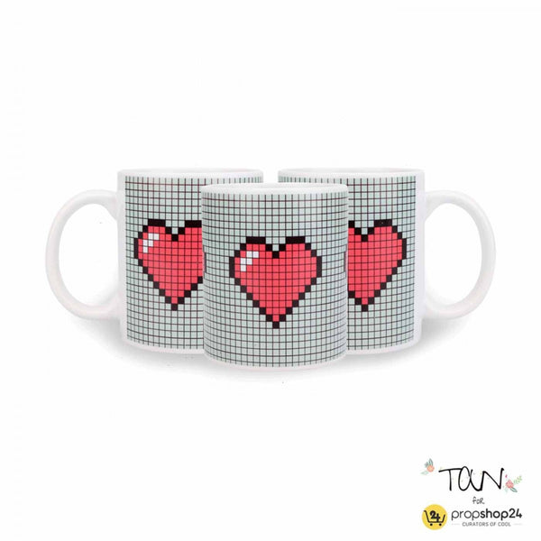 Coffee Mug - Pixel Heart - propshop-24 - 1