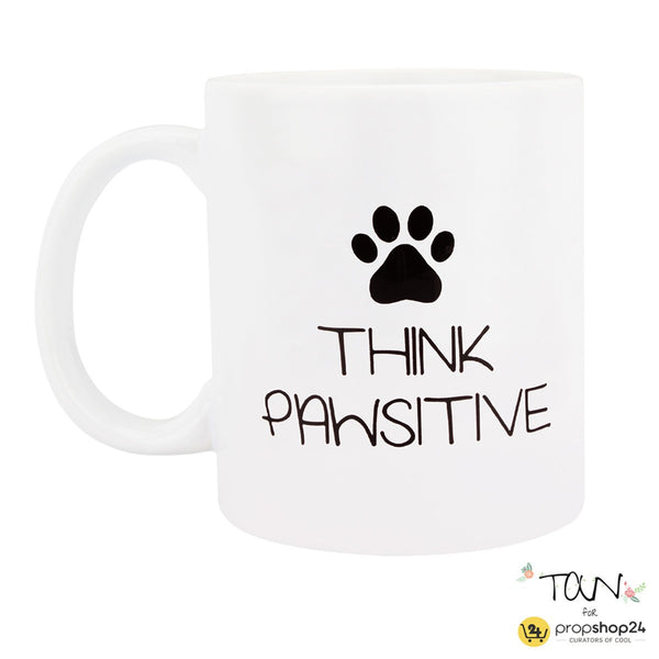 Coffee Mug - Think Pawsitive - propshop-24 - 1