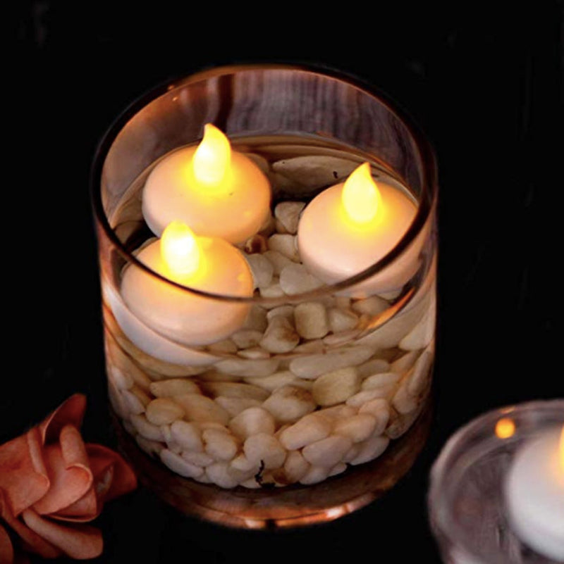 Floating Tealight Candles - Set Of 6-CANDLES + AROMA-PropShop24.com