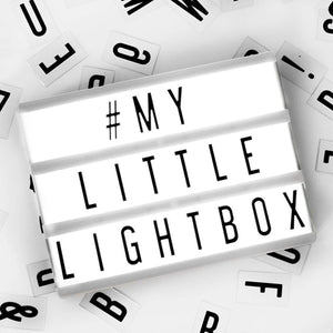 Cinematic Lightbox - 11inches - Black And White-HOME ACCESSORIES-PropShop24.com