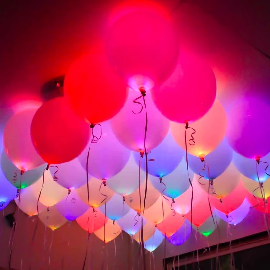 Balloons - LED - Set Of 5-BAR + PARTY-PropShop24.com