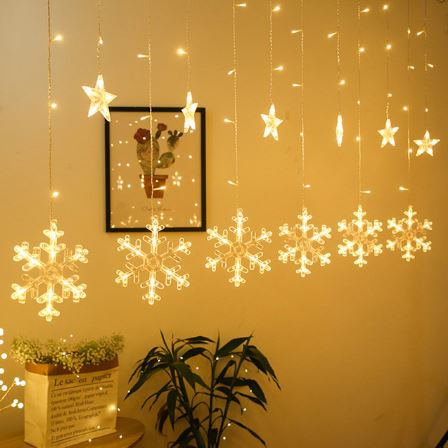LED Snowflake Hanging Lights-HOME ACCESSORIES-PropShop24.com
