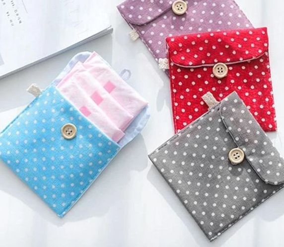 Sanitary Napkin Pouch - Polka Dots - Sold Individually-TRAVEL ESSENTIALS-PropShop24.com