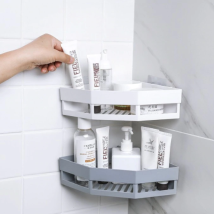 Bathroom Shelf - Triangle - Assorted-ORGANIZERS + STORAGE-PropShop24.com