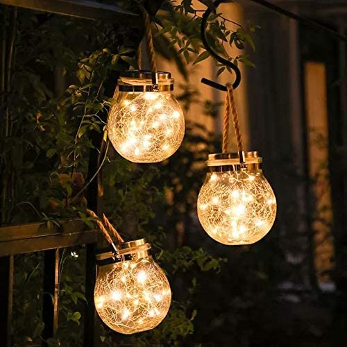 Hanging Light - Solar Crack Ball Warm white-HOME ACCESSORIES-PropShop24.com