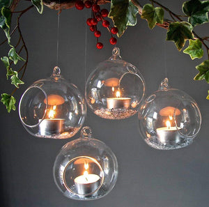 Hanging Round Candle Holder - Set Of 2-HOME ACCESSORIES-PropShop24.com