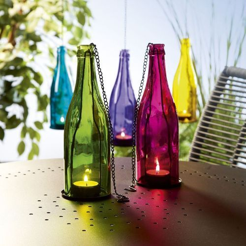 Hanging Colourful Glass Bottle - Sold Individually-HOME ACCESSORIES-PropShop24.com