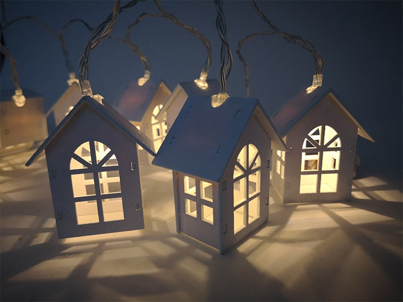 Fairy Lights- House - White-HOME ACCESSORIES-PropShop24.com
