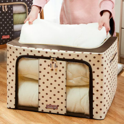 Foldable Clothes Organizer - Polka Dots-HOME ACCESSORIES-PropShop24.com
