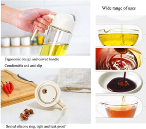 Auto Flip Lid Glass Oil Bottle - Single Piece-DINING + KITCHEN-PropShop24.com