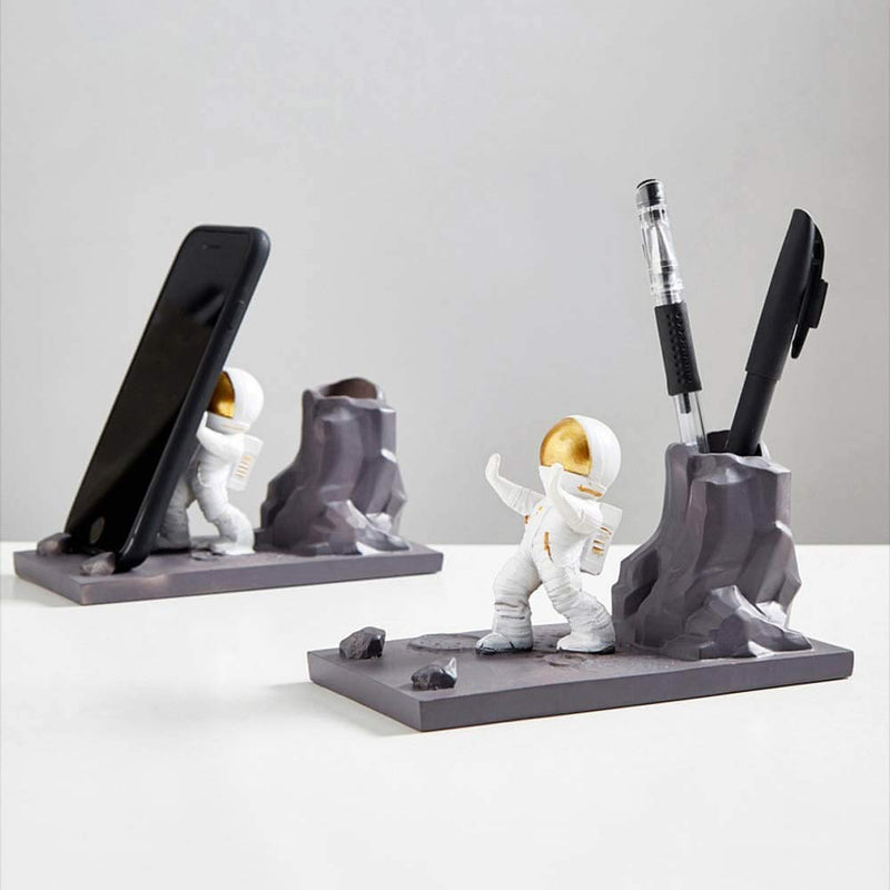 2-In-1 Pen Stand - Space - Single Piece-DESK ACCESSORIES-PropShop24.com
