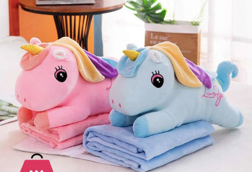 Pillow And Blanket Set - Unicorn-HOME ACCESSORIES-PropShop24.com