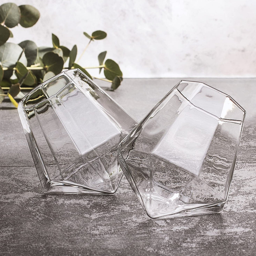 Drinking Glass - Diamond - 300ml - Set Of 2-BAR + PARTY-PropShop24.com
