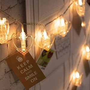 String Lights - Heart Photoclip - 3 Metre-HOME ACCESSORIES-PropShop24.com