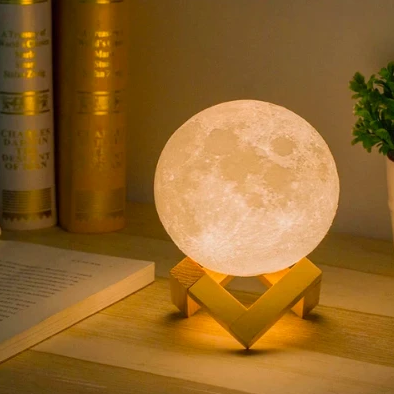 Table Lamp - 3D Moon Lamp-HOME ACCESSORIES-PropShop24.com